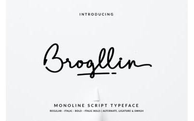 Brogllin Font – DEMO VERSION